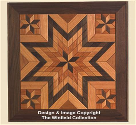 scroll  wall art wood quilt square pattern