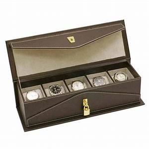 Boite De Montre : boite montres en simili cuir ~ Teatrodelosmanantiales.com Idées de Décoration