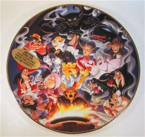 disney villains decorative ceramic plate