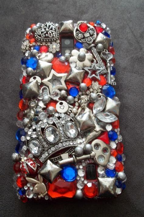 bling phone case  bejewelled case   cut
