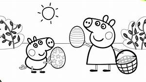 Peppa Pig Playing With George Coloring Book Pages