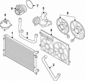 2014 Volkswagen Beetle Radiator Coolant Hose  Upper  Lower