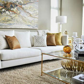 Gold White Living Room Designs  Modern Home Design Ideas