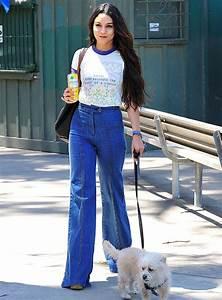 Vanessa Hudgens Graphic Tee & Wide Leg Jeans | Celebrity ...