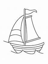 Sailboat Coloring Ausmalbilder Segelboot Printable Ausdrucken Malvorlagen Kostenlos Zum sketch template