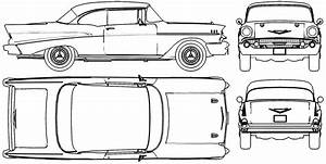 1957 Chevy Bel Air Drawings  With Images