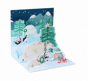 Pop Up Karte Weihnachten : pop up 3d weihnachten karte popshot arktis winterwelt 13x13 cm 509825 ~ Buech-reservation.com Haus und Dekorationen