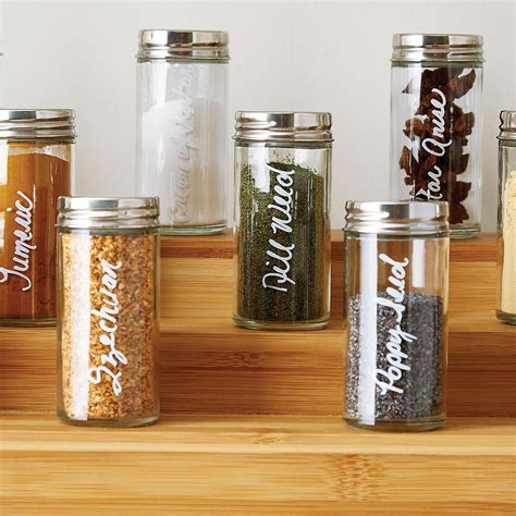 Country Kitchen Glass Jars by 3 Oz Glass Spice Bottle With Chrome Lid Kitchen Ideas