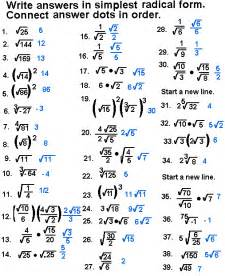 simplifying radical expressions worksheet answers simplify radical expressions connect the dots puzzles