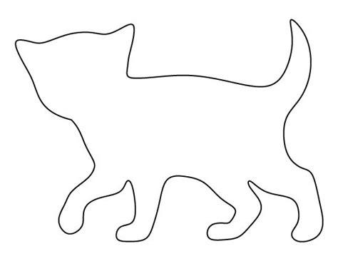 kitten pattern   printable outline  crafts