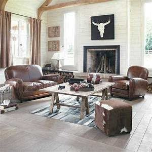 emejing salon cuir marron fonce pictures amazing house With tapis de gym avec canape cuir marron design