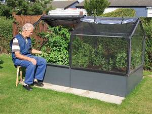 Bac Potager Pas Cher : potager de jardin sur lev de 50cm avec serre 2 modules ~ Melissatoandfro.com Idées de Décoration