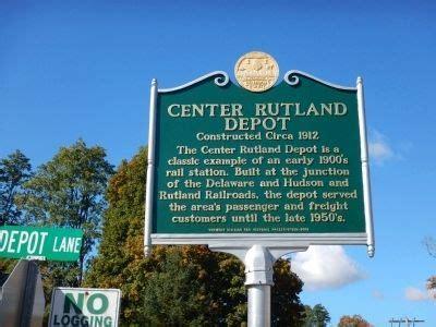 Office Depot Locations Delaware by Center Rutland Depot Historical Marker