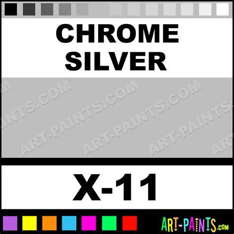 chrome silver color acrylic paints x 11 chrome silver