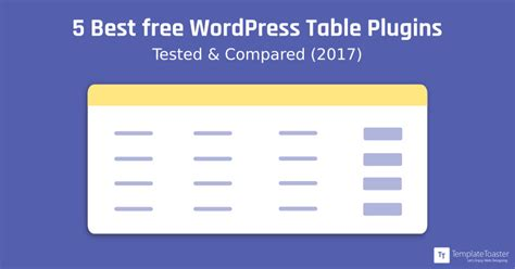 5 Best Free Wordpress Table Plugins  Tested & Compared(2018