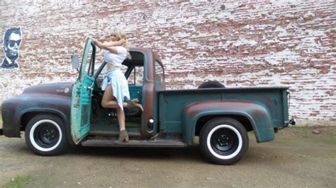 ford f 100 cab chassis 1955 patina for sale 1955 ford f100 f 100 custom cab patina