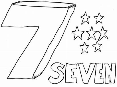 Coloring Number Pages Printable Seven Sheets Bestcoloringpagesforkids