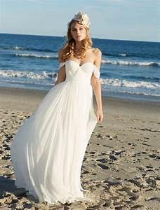 off the shoulder sweetheart soft chiffon summer beach With wedding dresses beach