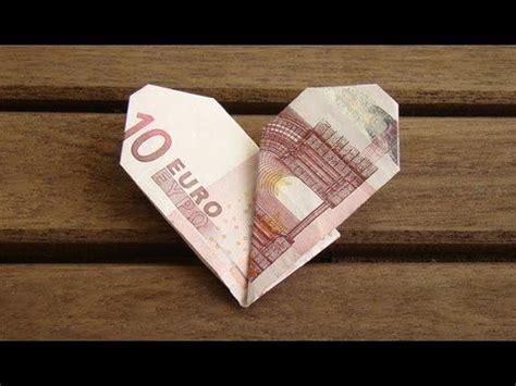 die  besten ideen zu geldscheine falten herz auf