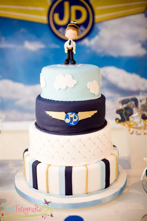 karas party ideas airplane airline pilot themed boy st