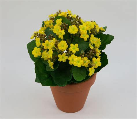 kunstblumen im topf kalanchoe 22cm gelb im topf lm kunstpflanzen k 252 nstliche blume kunstblumen ebay