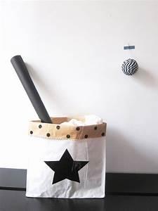 Sac Papier Kraft Deco : image of grande toile sac de rangement en papier pour chambre d 39 enfants wraping papier ~ Dallasstarsshop.com Idées de Décoration