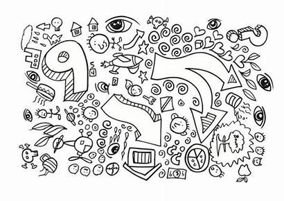 Doodles Coloring Doodle Pages Fun Notebook