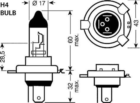 H4 Halogen Bulb Wiring Diagram by Philips X Treme Vision Xenon 100 Bulb Pair H1 And H4