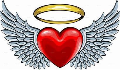 Wings Halo Angel Heart Clipart Wing Heart5