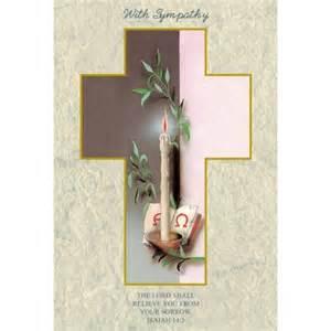 condolences card religious sympathy cards candle laminated