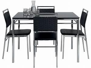 Ensemble Table Et Chaise Cuisine : ensemble table et de 4 chaises jade coloris noir vente de ensemble table et chaise conforama ~ Melissatoandfro.com Idées de Décoration