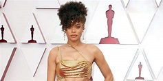 Andra Day, 36, Shows Off Abs In Gold Cut-Out Dress At ...