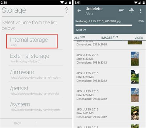recover deleted files android storage android data recovery how to recover lost data from