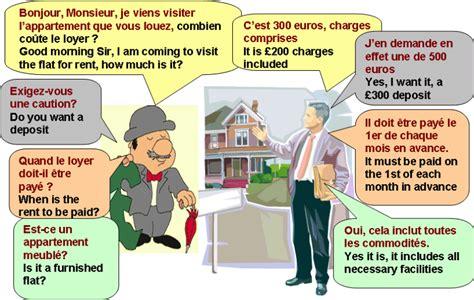 dialogue louer un appartement anglais