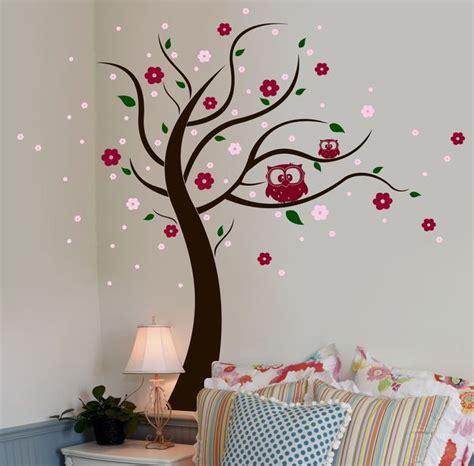 Wandtattoo Blumen Kreative Wandgestaltung by Wandtattoo Eulenbaum Eulen Baum Blumen Bl 252 Ten M802