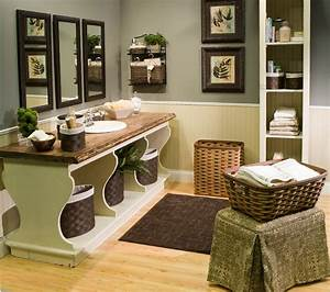 green and brown bathroom tjihome With best brand of paint for kitchen cabinets with michigan state wall art