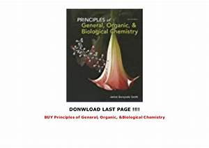 Buy Principles Of General  Organic   U0026 Biological Chemistry