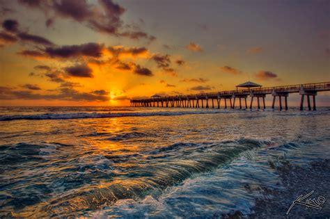 juno beach pier sunrise hdr series