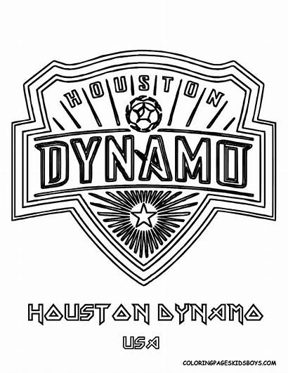 Coloring Soccer Logos Pages Houston Dynamo Boys