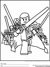 Lego Coloring Pages Jedi Wars Star sketch template