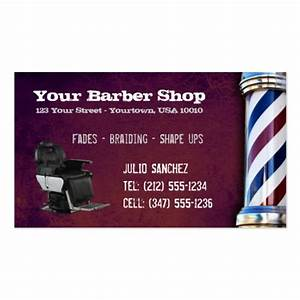 Customizable barber shop bc business card zazzle for Barber shop business card