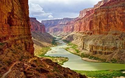 Canyon Grand Arizona River Landscape Nature Desktop
