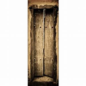 Decoration De Porte : sticker d coration de porte trompe l 39 oeil vielle porte art d co stickers ~ Teatrodelosmanantiales.com Idées de Décoration