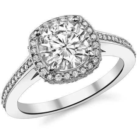 cusion cut engagement ring pictures eng951b or eng163a moissanite