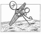 Kleurplaat Ruimtevaart Kleurplaten Geschiedenis Maan Coloring 1962 Raumfahrt Geschichte Satellite Space History Travel Fun Malvorlage Ausmalbilder sketch template