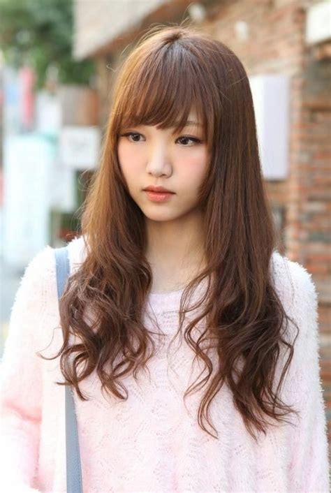 popular korean hairstyles  girls  long hair