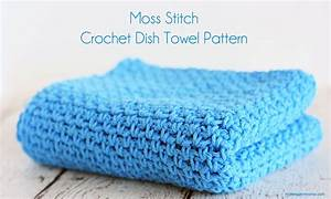 household health moss stitch crochet dish towel pattern midwestern