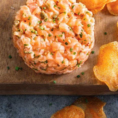 poissons cuisine tartare de saumon le meilleur ricardo