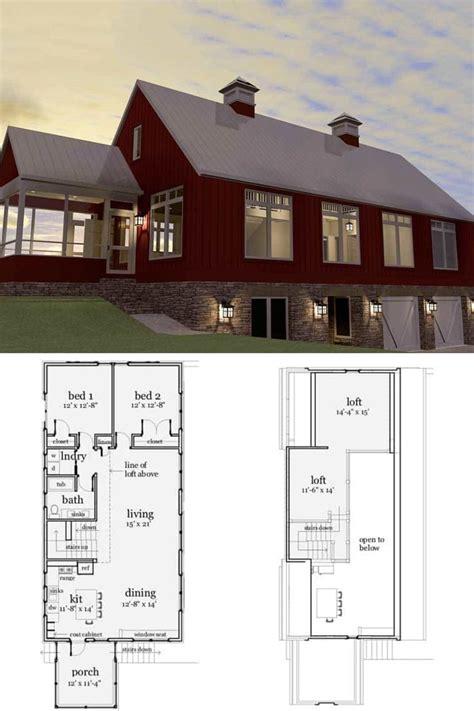 bedroom  story modern barndominium floor plan carriage house plans modern barn house