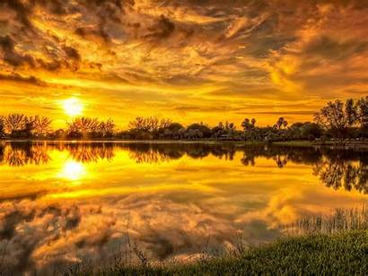 Wallpapers Sunset Sky Backgrounds Clouds Lovely Stream